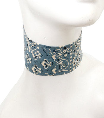 Light Blue Bandanna Choker Set
