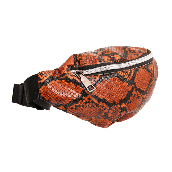 Brown Snake Skin Fanny Pack