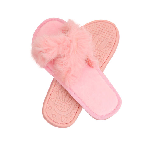 Size Small Pink Fur Slippers