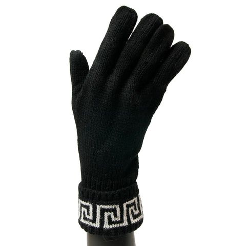 Versace White and Black Gloves