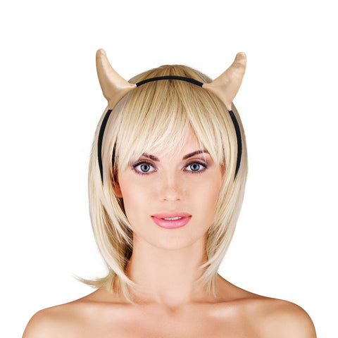 Gold Devil Horns Headband