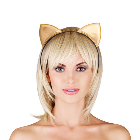 Gold Kitty Ears Headband