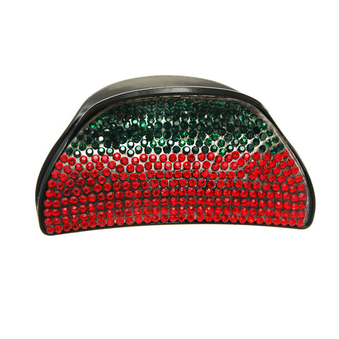 Green and Red Rounded Hair Clip