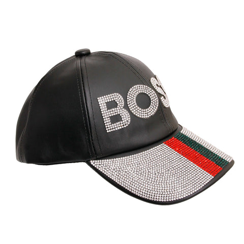 Gucci Style Leather BOSS Cap