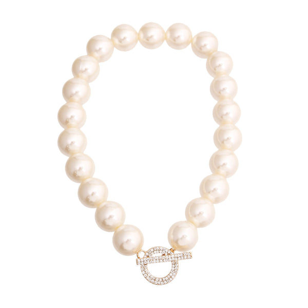 Cream Pearl Toggle Necklace