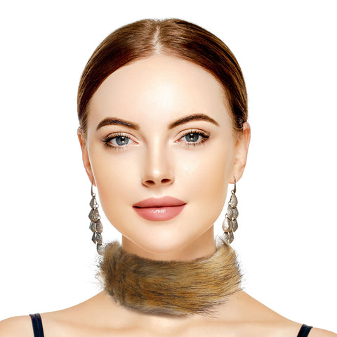 Brown Fur Choker