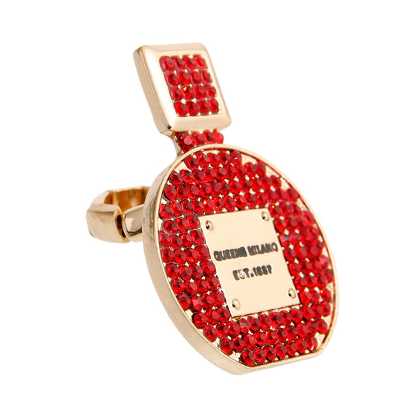Red Perfume Bottle Ring