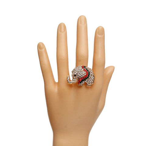 Gucci Rhinestone Elephant Ring