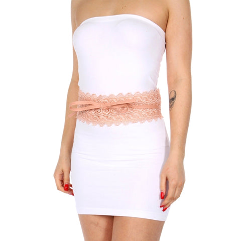 Pink Leather and Lace Belt