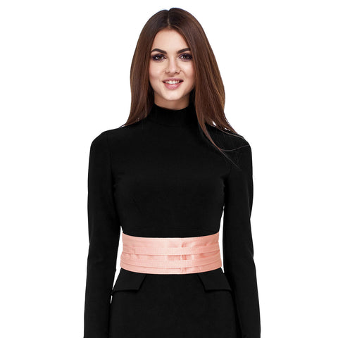Pink Satin Wrap Belt
