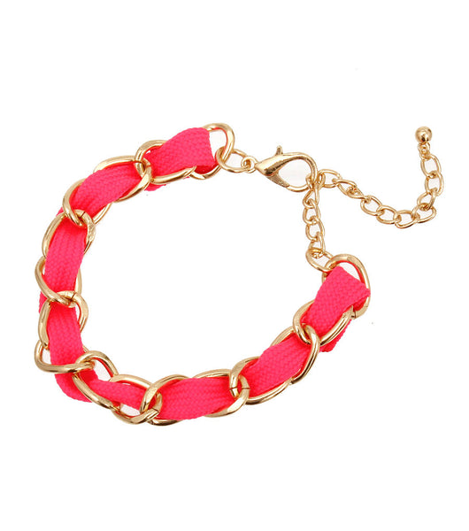 Fuchsia Color Cord Anklet