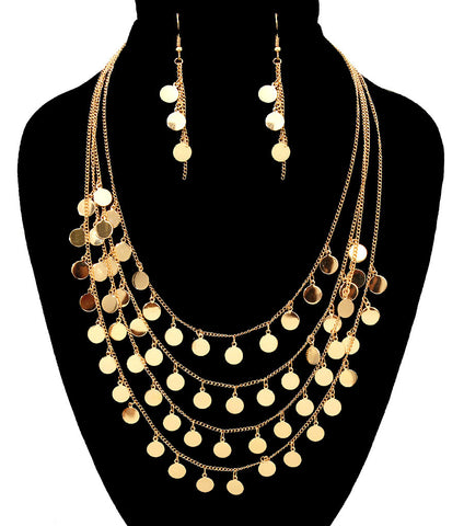 Charm Layered Necklace Set