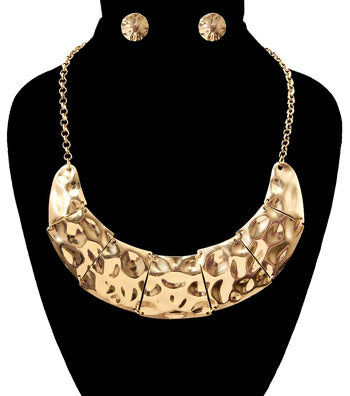 Hammered Necklace Set