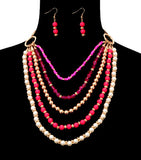 Beads Pearl Necklace Set