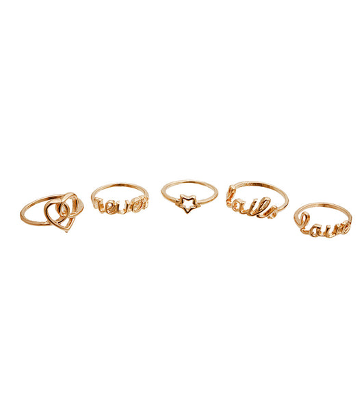 Gold Love Theme Five Rings