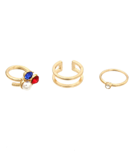 Multi Color Midi Rings