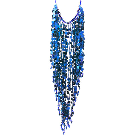 Sequin Fringe Choker Necklace