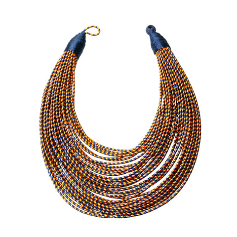 Tribal Layered Wrapped Necklace