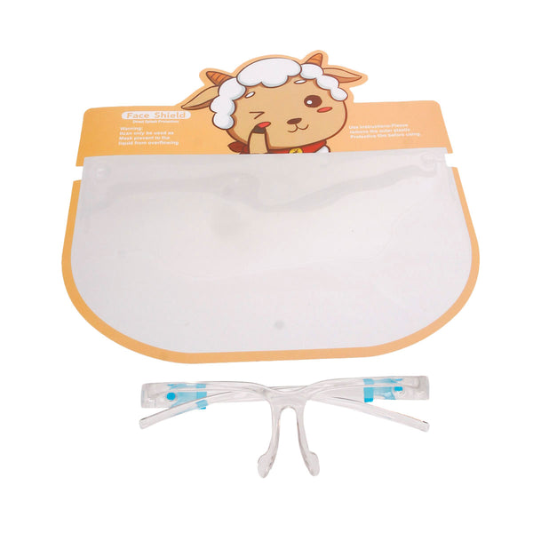 Kids Lamb Face Shield and Glasses