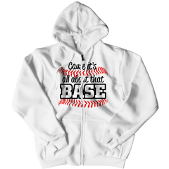 All About That Base Zipper Hoodie / White / 3XL