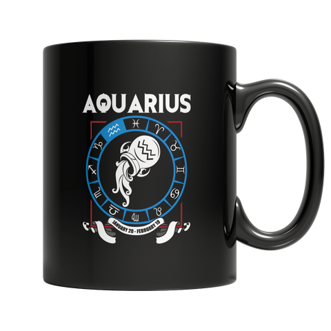 Aquarius 11oz Black Mug / Black / 11oz