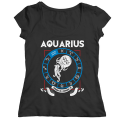 Aquarius Ladies Classic Shirt / Black / 2XL