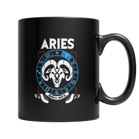 Aries 11oz Black Mug / Black / 11oz