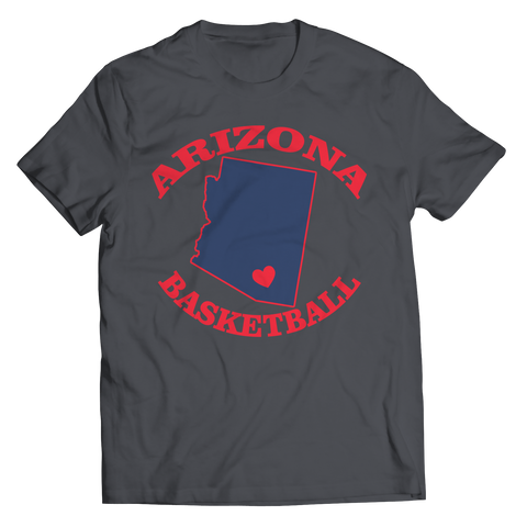 Arizona Basketball Unisex Shirt / Charcoal / 3XL