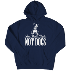 Ban Stupid People Not Dogs Hoodie / Navy / S