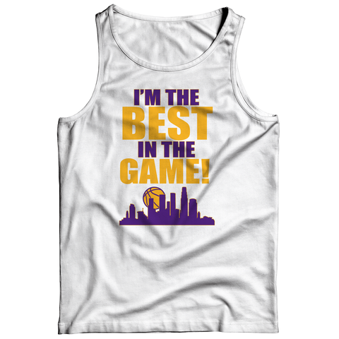 Best In The Game - Lakers Tank Top / White / 3XL