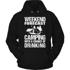 Camping With A Chance Of Drinking Hoodie / Black / S