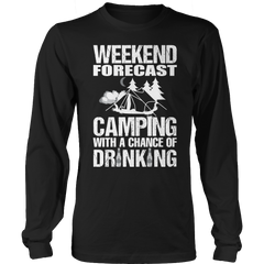 Camping With A Chance Of Drinking Long Sleeve / Black / S