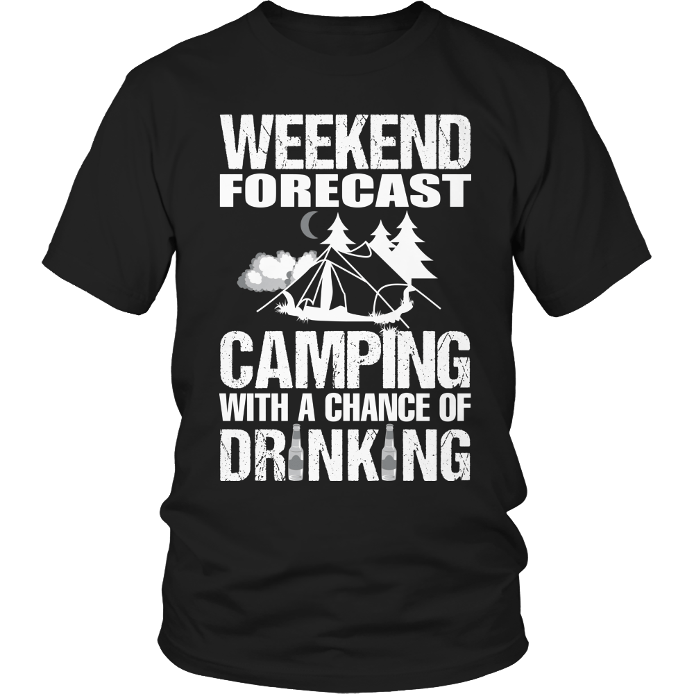 Camping With A Chance Of Drinking Unisex Shirt / Black / S