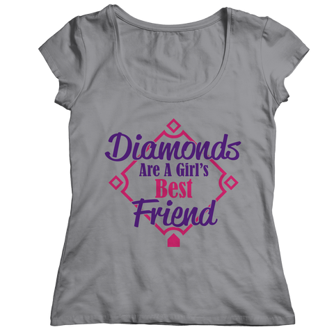 Diamonds Are a Girl's Best Friend Ladies Classic Shirt / Athletic Heather / 2XL
