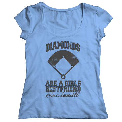 Diamonds Are A Girls Best Friend Cincinnati Ladies Classic Shirt / Light Blue / 2XL