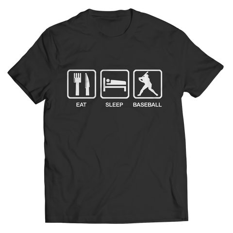 Eat Sleep Baseball Unisex Shirt / Black / 3XL