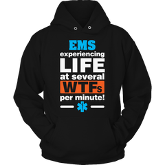 Experiencing Life At Several Wtfs Per Minute 1 Hoodie / Black / S