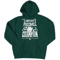 Fantasy Football Champion Hoodie / Forest Green / 3XL