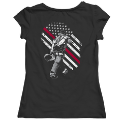 Firefighter Exclusive Thin Red Line Ladies Classic Shirt / Black / S