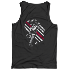 Firefighter Exclusive Thin Red Line Tank Top / Black / S
