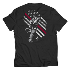Firefighter Exclusive Thin Red Line Unisex Shirt / Black / 6XL