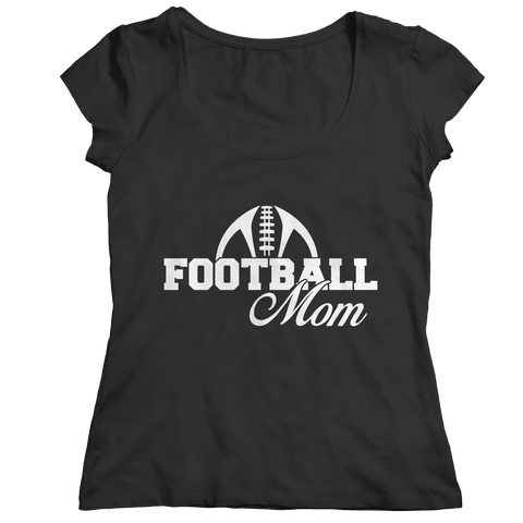 Football Mom Ladies Classic Shirt / Black / 2XL