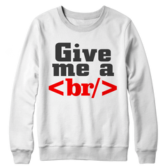 Give Me a Break Crewneck Fleece / White / S