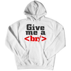 Give Me a Break Hoodie / White / S