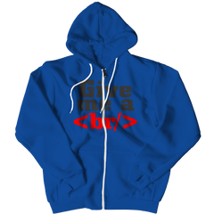 Give Me a Break Zipper Hoodie / Royal / S