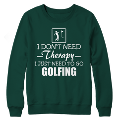 Golf Therapy Crewneck Fleece / Forest Green / 3XL