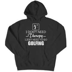 Golf Therapy Hoodie / Black / 3XL