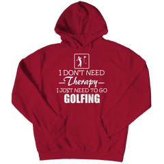 Golf Therapy Hoodie / Crimson / 3XL