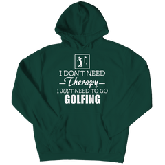 Golf Therapy Hoodie / Forest Green / 3XL