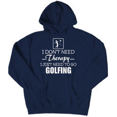 Golf Therapy Hoodie / Navy / 3XL